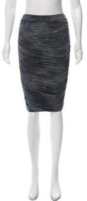 Alice + Olivia Tie-Dye Knee- Length Skirt