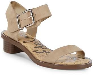 Sam Edelman Women's Trina Heeled Leather Open Toe Sandals