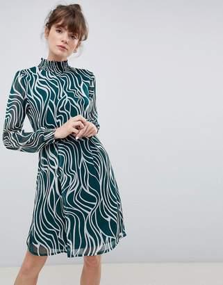 Ichi High Neck Printed Dress
