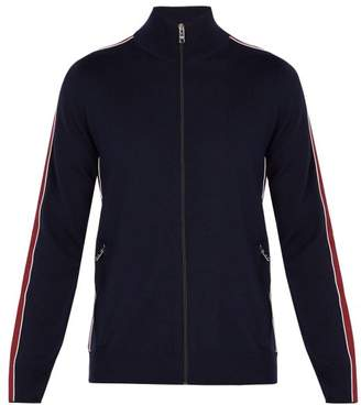 Prada Virgin Wool Track Jacket - Mens - Navy Multi