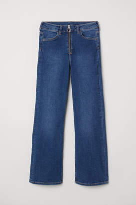 H&M Kickflare High Ankle Jeans - Blue