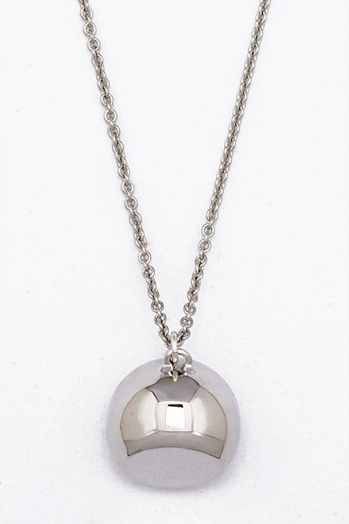 Alexis Bittar Silver Ball Pendant