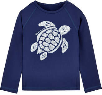 Vilebrequin Glassy Sea Turtle Rash Guard, Size 2-14
