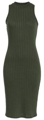 Love, Fire Rib Knit Midi Dress