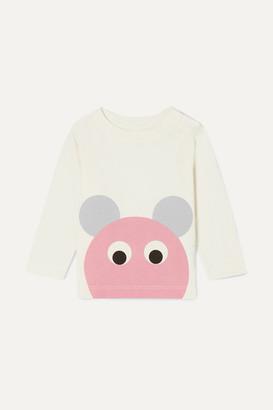 Stella McCartney Printed Organic Cotton-jersey Top - Pink