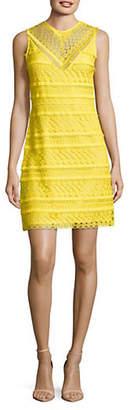 Sam Edelman Sleeveless Geo Lace Sheath Dress