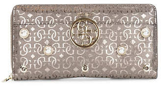 GUESS Kamryn Embellished Cheque Organizer