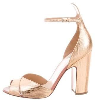 Francesco Russo Metallic Ankle-Strap Sandals