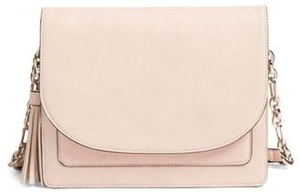 Phase 3 Tassel Faux Leather Shoulder Bag - Pink $79 thestylecure.com