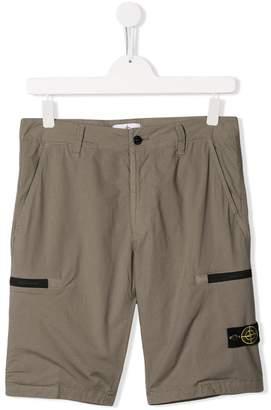 Stone Island Junior casual utility shorts