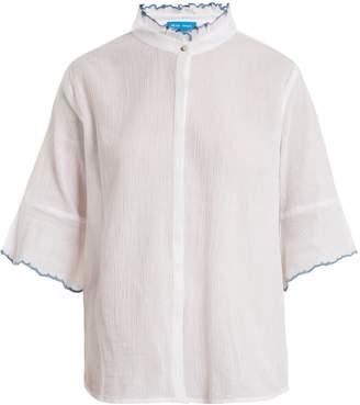 MiH Jeans Anita ruffle-trimmed cotton shirt