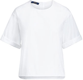 Polo Ralph Lauren Cotton Broadcloth Shirt $98.50 thestylecure.com