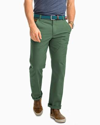 Southern Tide RT-7 Rugged 5-Pocket Canvas Stretch Pant - Duck Green