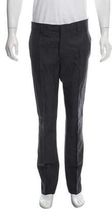 Calvin Klein Velvet-Trimmed Wool Pants