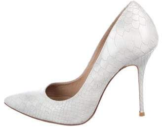 Kurt Geiger Embossed Pointed-Toe Pumps