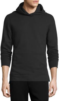 John Elliott Long-Sleeve Cotton Hoodie Sweatshirt, Black