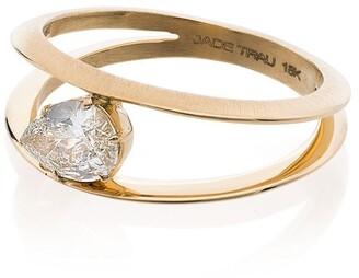 Jade Trau yellow gold sadie soltaire diamond ring