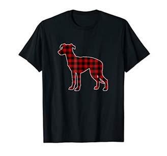 Buffalo David Bitton Whippet Christmas Shirt Dog Plaid Tee