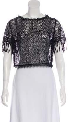 Lena Hoschek Short Sleeve Lace Top