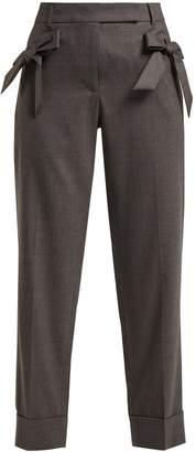 Simone Rocha Bow-embellished wool trousers