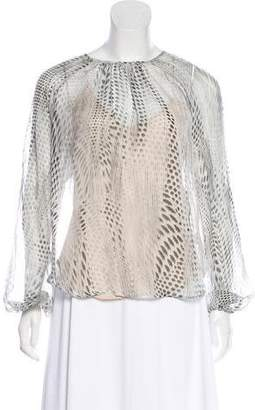 L'Agence Long Sleeve Silk Top