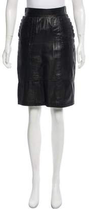 Gianni Versace Leather Knee-Length Skirt