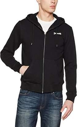 Schott NYC Men's Sw Hooded Sweatshirt,Large