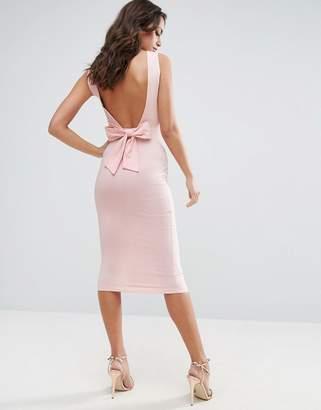 ASOS Bow Back Midi Bodycon Pencil Dress $34 thestylecure.com