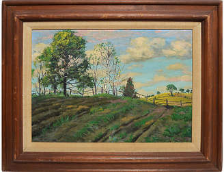 One Kings Lane Vintage Summer Farm Landscape - Curated Gallery Art