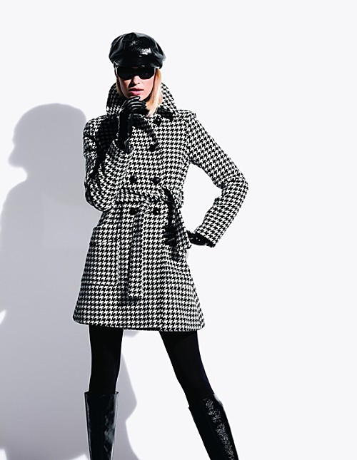 MICHAEL Michael Kors Houndstooth Coat