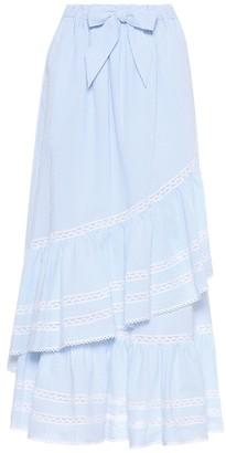 Jonathan Simkhai Striped seersucker skirt