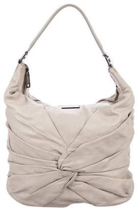 Burberry Ruched Leather Hobo