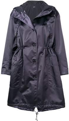 Jil Sander Navy oversized parka coat