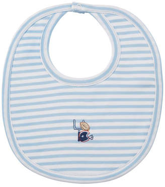 Kissy Kissy Fall Sports Striped Bib