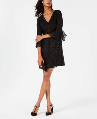 Jessica Howard Petite Textured Metallic Shift Dress