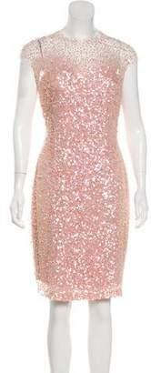 Reem Acra Embellished Knee-Length Dress w/ Tags