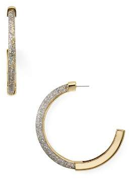 Rebecca Minkoff Glitter Resin Hoop Earrings
