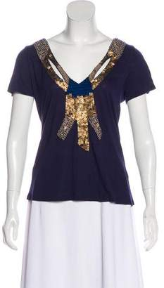 Gryphon Embellished Short Sleeve Top