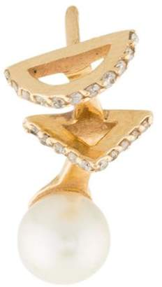 Paige Novick Phyne by 14K Pearl & Diamond Ear Climber