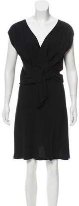 6267 Draped Knee-Length Dress