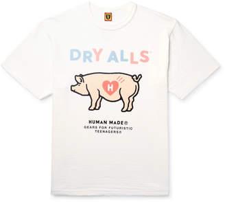 Off-White Human Made - Printed Slub Cotton-Jersey T-Shirt - Men