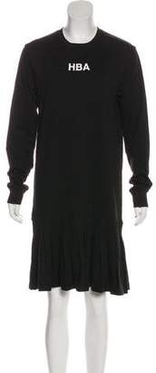 Hood by Air Long Sleeve Knee-Length Dress