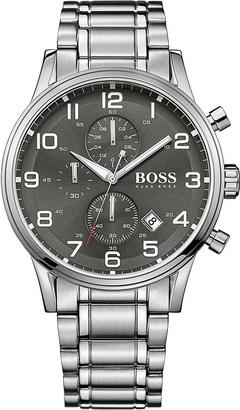 HUGO BOSS 1513181 aeroliner stainless steel watch $370 thestylecure.com