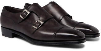 George Cleverley Caine Leather Monk-Strap Shoes