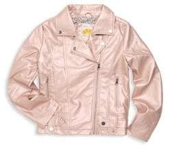 C&C California Girl's Metallic Moto Jacket