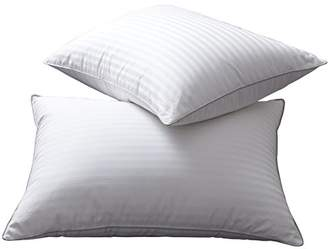 L LOVSOUL Set of 2 White Goose Down and Feather Bed Pillows - Triple Chambers Design