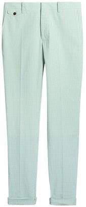 Burberry Gingham Cotton Tailored Trousers