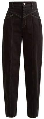 Isabel Marant Lenie High Waist Jeans - Womens - Black