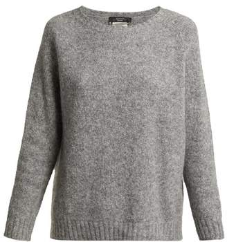 Max Mara Slouchy Alpaca Blend Sweater - Womens - Grey
