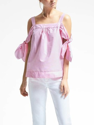 Cold-Shoulder Bow-Sleeve Cami Top $98 thestylecure.com